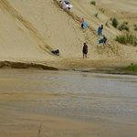 Sand dunes boogie boarding