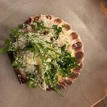 Raw Scallop, Spring Green, Parm