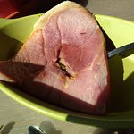 Country ham (note the unrendered fat at the edge)