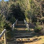 Steps leading up to additional sunset/sunrise trails.