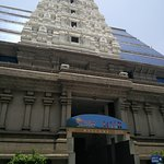 outside the temple ..