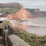 Town and Jurassic cliffs