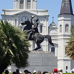 The statute of General Jackson in Jackson Square