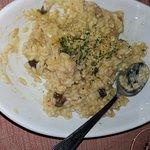 risotto con porro, coniglio e olive taggiasche