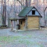 replica of a log cabin