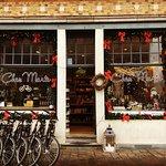 Chez Marie shop with Christmas decoration