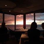 Coucher de soleil au restaurant panoramique