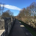 Just blue sky's over York and a part of the City Walls.