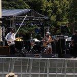 A band singing