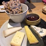 very good cheese selection - although the seedy biscuits a little too tasty