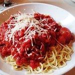 spaghetti & meatballs, Pasta Fresca, Columbia, SC, April 2018
