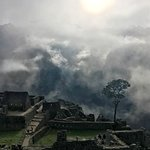 Early morning mist in Machu Picchu