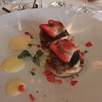 Starter - Roasted Duck Liver on french scones with strawberries...One word...WOW
