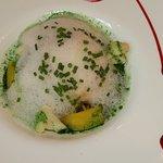 Lotte, goutte de mer, écume de citron vert, kalamansi (crédit photo Kristoff29)