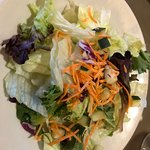 Dinner salad, try the house dressing