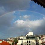 Zimmeraussischt mit Regenbogen
