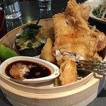 Tempura fish and veggies: delicious