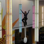 ride the highwire unicycle - a forever favorite at COSI