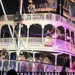Fantasmic HB Viewing--notice the railing if you sit to the front!