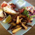 Grilled lobster with home made French fries