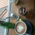 hot choc and green tea