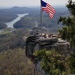 Chimney Rock with Old Glory