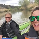 Mother Daughter on the water for a great trip down the river.