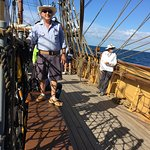 This guy calls instructions total the Crew to raise the sails etc ...real life