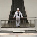 My son..at the USS Arizona while serving.