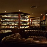 A partial view of the whisky bar and extensive collection