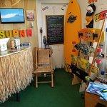 Inside supnh paddleboard shop
