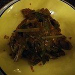 stir-fry lamb, the taste is waaaay better than it looks :)