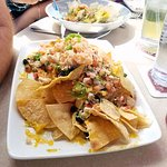 Ahi poke surprise and lobster nachos at the Cove Cafe