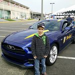 My grandson with a Blue Angel more his size!