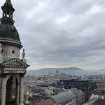 View of the Hungarian Parliament in the distance