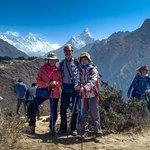 Left:Everest (8848 m), Middle: Lhotse (8618 m), Right: Amadablam (6856 m).