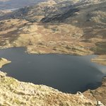 Looking down on Easedale Tarn