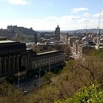 View from Calton Hill down Princess St, with the Castle to the left.