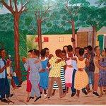 Outdoor Dance (1958) by Philomé Obin, Milwaukee Art Museum
