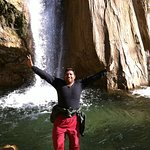 Missouri waterfall with Jeetu
