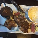 steak asked for Medium (rare at best)