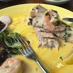 Mahi topped with shrimp