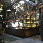 Jameson Bar - nice bottle chandeliers!