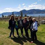 The gang visiting Deep Roots Winery