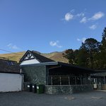 Threlkeld coffe shop with Blencathra behind.