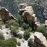 Hoodoos on road to Mount Lemmon
