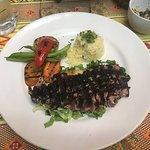 Wasabi / Black sesame crusted Tuna steak.