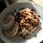 Loaded Oatmeal w/side of English muffin