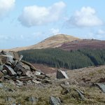 Whinlatter Top summit cairn & Lord's Seat in distance
