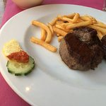 Steak with salad hahahaha Unbelievable!